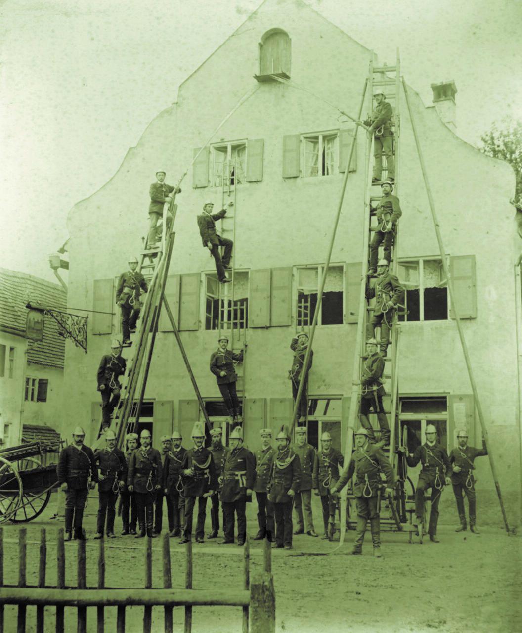 1867: Gründung der Freiwilligen Feuerwehr Pfersee
